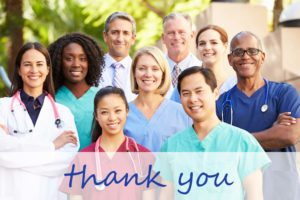 thank you healthcare professionals